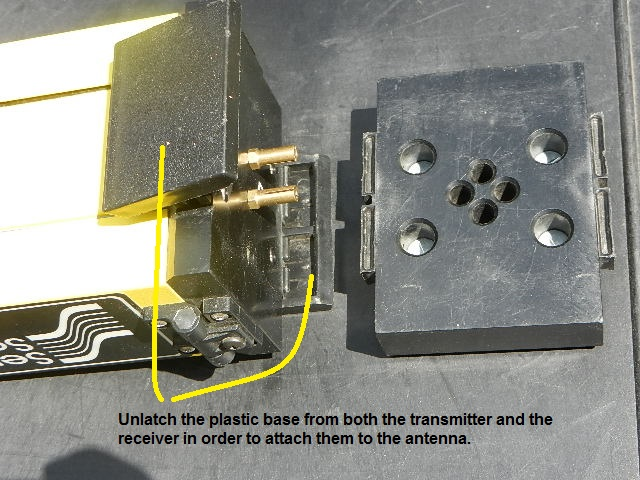 Attach the Tx and Rx Base to the Antenna
