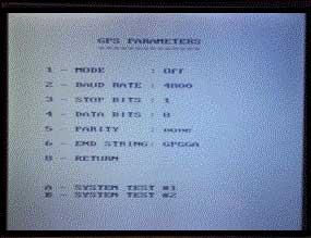 GPR GPS Parameters