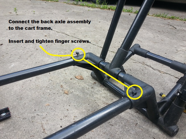 Attach the Back Axle PulseEKKO Pro SmartCart Assembly