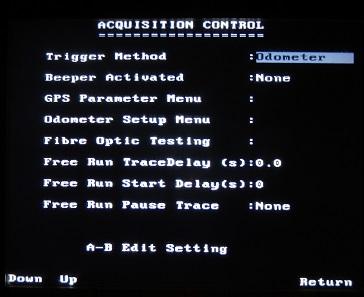 PulseEKKO Pro Acquisition Control Screen