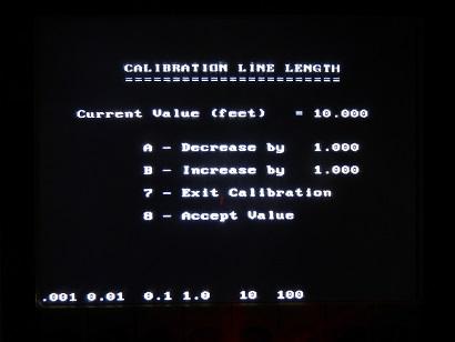 PulseEKKO Pro SmartCart Calibration Line Length Screen