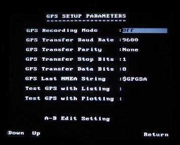 PulseEKKO Pro GPS Setup Parameters Screen