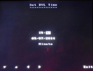 PulseEKKO Pro DVL Setup Time Date Screen